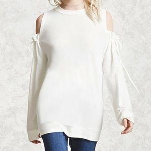 Forever 21 Cold Shoulder Sweatshirt